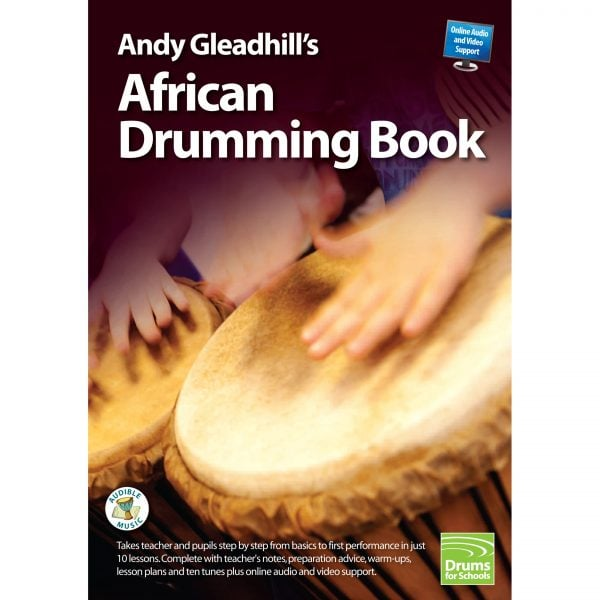 This is a product image of the front cover of Andy Gleadhill's African Drumming Book 1.
