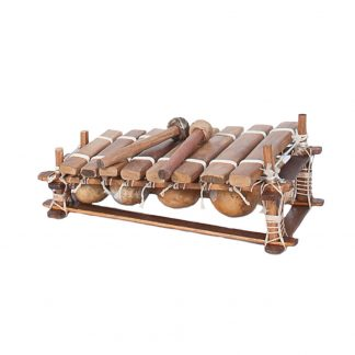 This is a product image of the Balafon (African Xylophone) - 8 note from the front.