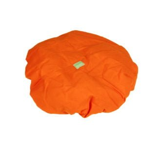 This is a product image of the Drum Hat - 18in diameter, orange canvas, waterproof which is suitable to protech the head of any 18in Djembe.