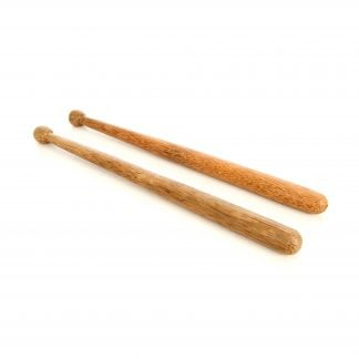 This is a product image of two Dundun Beaters, laid flat in parallel.