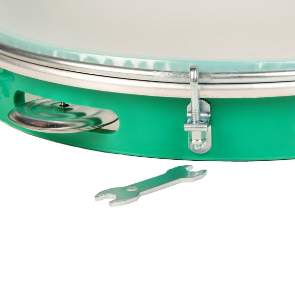 Pandeiro - 10in diameter, Izzo, with tuning spanner detail.