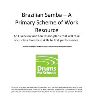 Title Graphic of Andy Gleadhill's Brazilian Samba Primary Scheme of Work