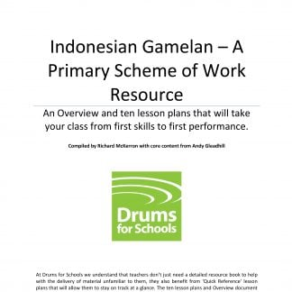 Title Graphic of Andy Gleadhill's Indonesian Gamelan Primary Scheme of Work