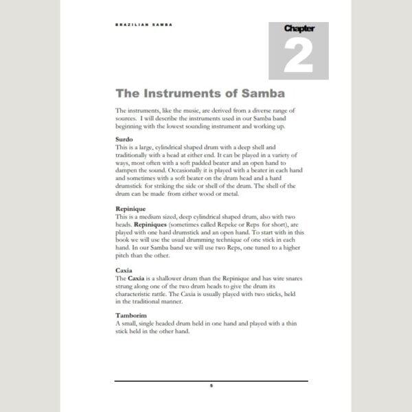 Image showing The Instruments of Samba from Andy Gleadhill's Brazilian Samba Teaching Guide