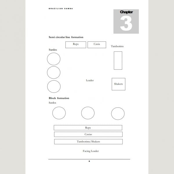 Image showing Semi Circular Line Formation from Andy Gleadhill's Brazilian Samba Teaching Guide