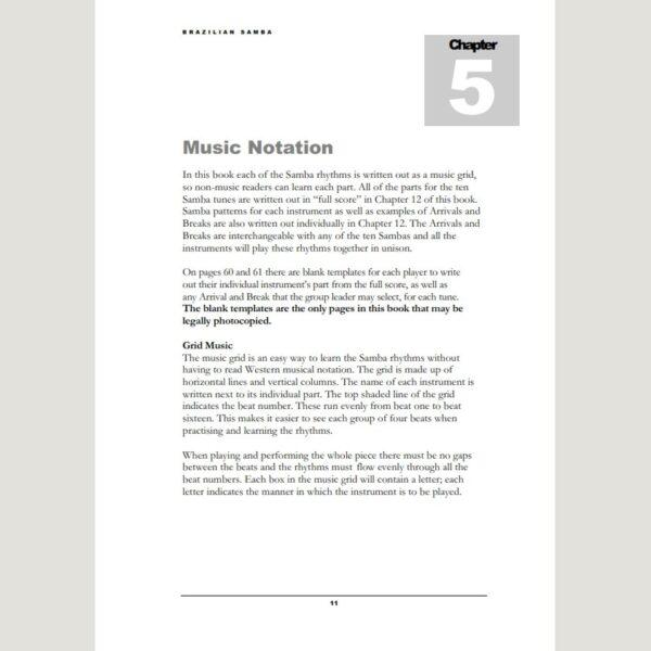 Image showing Music Notation from Andy Gleadhill's Brazilian Samba Teaching Guide