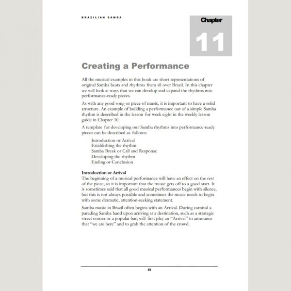 Image showing Creating A Performance from Andy Gleadhill's Brazilian Samba Teaching Guide