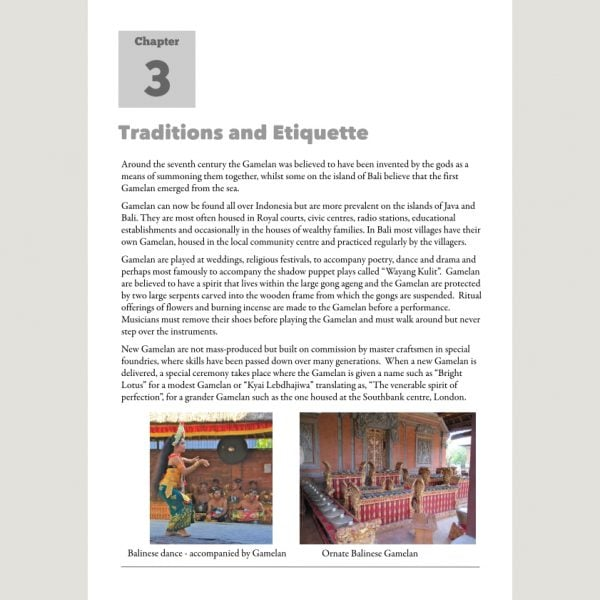 Image showing Traditions and Etiquette from Andy Gleadhill's Indonesian Gamelan Book