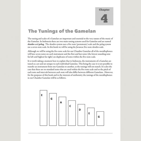 Image showing The Tunings of Gamelan from Andy Gleadhill's Indonesian Gamelan Book
