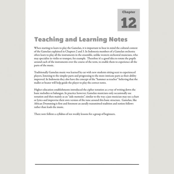 Image showing Teaching and Learning Notes from Andy Gleadhill's Indonesian Gamelan Book